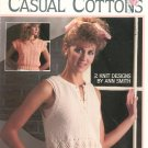 Leisure Arts Casual Cottons 2 Knit Designs Leaflet 599 Ann Smith