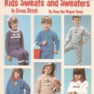 Leisure Arts Kid's Sweats and Sweaters Leaflet 433 Cross Stitch Anne Van Wagner Young