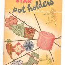 Star Book 32 Pot Holders Vintage American Thread