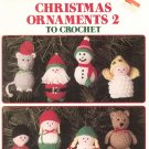 Leisure Arts Christmas Ornaments 2 To Crochet Leaflet 772 by Anne Halliday