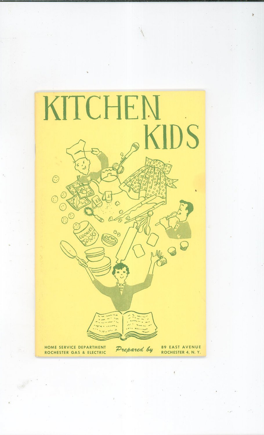 Kitchen Kids Cookbook by Rochester Gas & Electric Company Vintage Item Regional New York