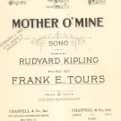 Vintage Mother O' Mine Sheet Music Kipling & Tours Chappell & Co.