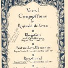 Vintage Recessional Sheet Music Vocal Compositions R. de Koven Theodore Presser Co.