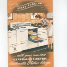 Vintage Speed Cooking With Your New General Electric Automatic Electric Range Manual Plus