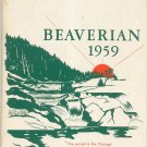 The Beaverian 1959 Year Book Yearbook Beaver River Central School Beaver Falls New York Extra