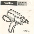 Wards Powr Kraft 3/8 Inch Electric Drill Model TPC 9207A Owners Guide & Parts List