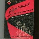 Vintage Rain Smart Vinyl Plastic Rain Wear Clear In Original Box Advance Rainsmart Retro