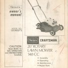 "Vintage Sears Craftsman 20"" Rotary Lawn Mower Owners Manual 148 CC 131 90272 1974"