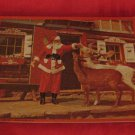 Vintage Santa With Two Reindeer At Santa's House Puzzle Santa's Workshop North Pole NY
