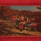 Vintage Santa With Reindeer And Loaded Sleigh Puzzle Santa's Workshop North Pole NY