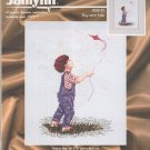 Janlynn 29-31 Boy With Kite Craft Kit Counted Cross Stitch Nancy Cole