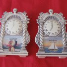 Rochester New York Clock Salt & Pepper Shakers Indian & Sailboat Souvenir