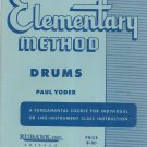 Rubank Elementary Method Drums Paul Yoder Library No. 44