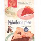 Fabulous Pies From Pillsbury Cookbook Vintage Christmas Pie