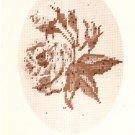Vintage Columbia Minerva Designer Needlepoint Rose No. 1 GS 66564 Craft Kit