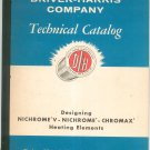 Driver Harris Technical Company Catalog Nichrome V Chromax Heating Elements Vintage
