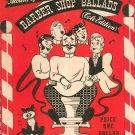Vintage Old and Modern Album of Favorite Barber Shop Ballads Cole Edition