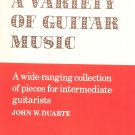 A Variety Of Guitar Music John Duarte Intermediate Faber Music LTD