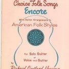 Choice Folk Songs Encore Richard Harrison Guitar Hargail Music Anthology