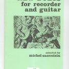 New Duets For Recorder And Guitar Michel Sanvoisin Heugel Paris