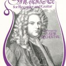 Handel For Recorder and guitar Eugene Reichenthal Edward Marks Music Corp.