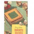 Mary Blake Favorite Recipes Cookbook Vintage Carnation 1954