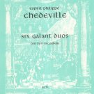 Esprit Philippe Chedeville Six Galant Duos For Two Recorders Kalmus Series 9003 Belwin