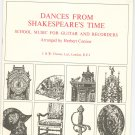 Dances From Shakespeare's Time For Guitar And Recorders Herbert Connor J. & W. Chester