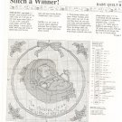 Stitch A Winner Baby Quilt II Pattern / Instructions Cross Stitch & Country Crafts 1987