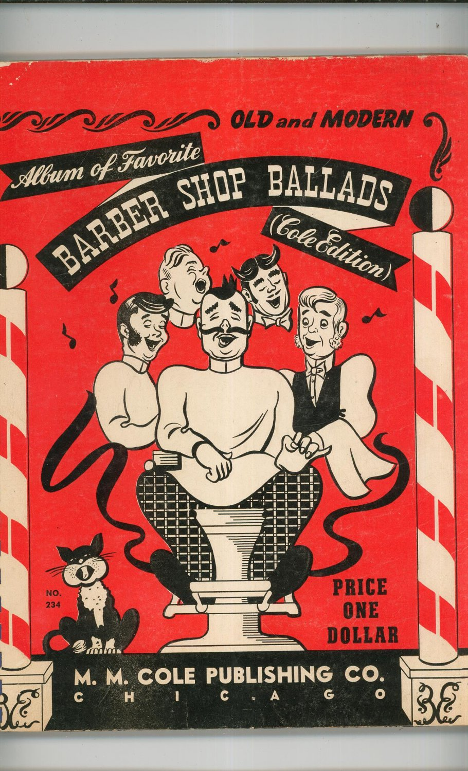 Impressive Vintage Old and Modern Album of Favorite Barber Shop Ballads Cole 910 x 1500 · 331 kB · jpeg