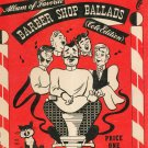 Vintage Old and Modern Album of Favorite Barber Shop Ballads Cole Edition