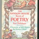 The Random House Book Of Poetry For Children Prelutsky & Lobel 0394950100
