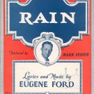 Vintage Rain Sheet Music Eugene Ford Robbins Music Corporation