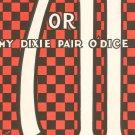 Vintage 7 Or 11 My Dixie Pair O' Dice Sheet Music Walter Donaldson Shapiro Bernstein
