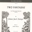 Two Fantasias by Johann Froberger American Recorder Society SATB