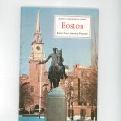 Boston Know Your America Program Vintage Geographical Society Doubleday