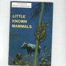 Little Known Mammals Vintage Science Service Program Doubleday
