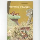 Mammals Of Europe Vintage Science Service Program Doubleday