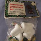 Holiday Craft Trims Christmas Ornament Kit 4058 Christmas Bells In Package With Instructions
