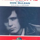 American Pie Sheet Music Don McLean Universal Music Publishing