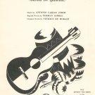 The Girl From Ip Anema Sheet Music Vintage Jobim Gimbel De Moraes Duchess Music