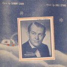 Let It Snow Let It Snow Let It Snow Sheet Music Vintage Cahn & Styne Morris