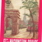 Vintage Outdoor Art Exhibit Washington Square 1965 Program With Advertisements Greenwich Village