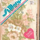 St Mary's Percale One Twin Fitted Sheet Beige & Peach Flowers In Package