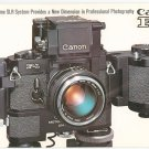 Vintage Canon F-1 SLR Camera Catalog Professional Photography