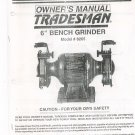 Tradesman 6 Inch Bench Grinder Owners Manual Model 8265 Not PDF