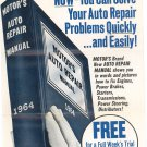 Vintage Motor's Auto Repair Manual Sales Brochure 1964