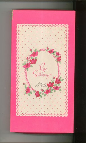 Rose Stitchery Scalloped Letter Box Set Envelopes & Paper Decorated Pratt & Austin