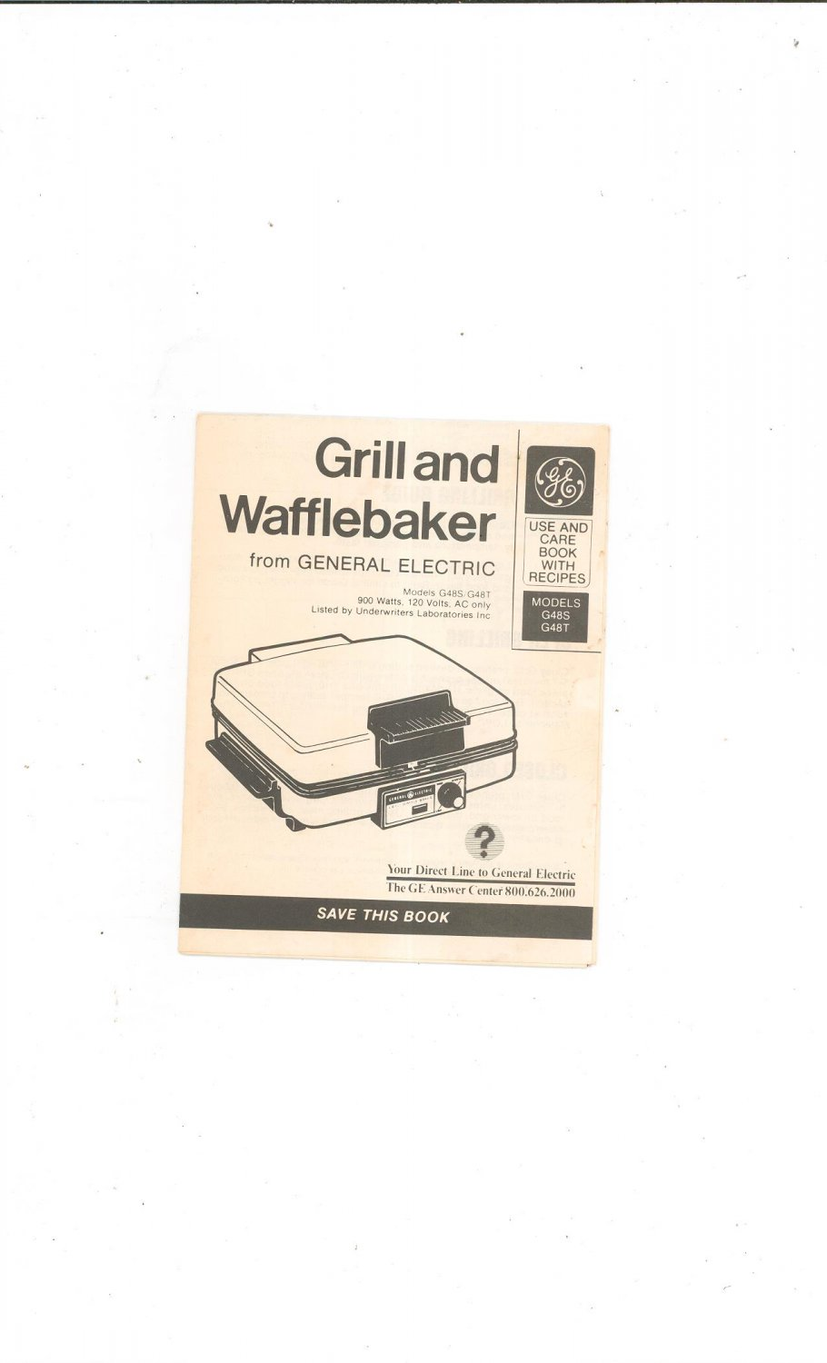 ge grill and wafflebaker model g48s g48t owners manual. Black Bedroom Furniture Sets. Home Design Ideas
