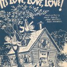 It's Love Love Love Sheet Music Vintage David Whitney Kramer Santly